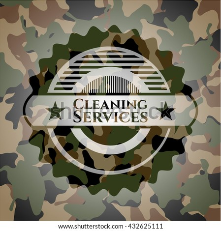 Cleaning Services on camo pattern