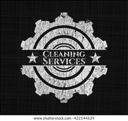 Cleaning Services on chalkboard