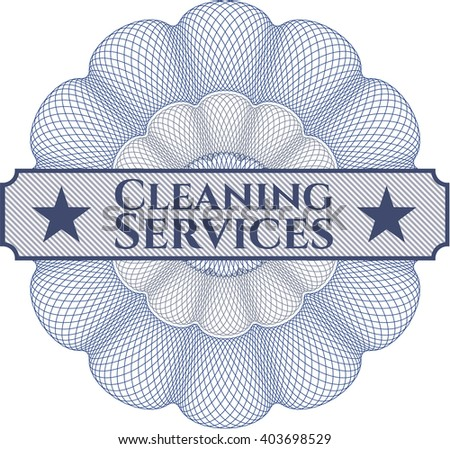 Cleaning Services rosette (money style emplem)