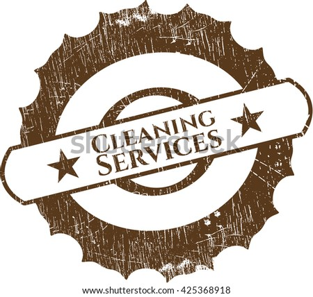 Cleaning Services rubber grunge stamp