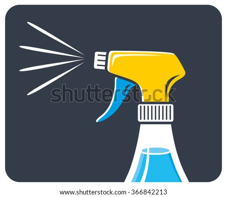 Cleaning spray icon.