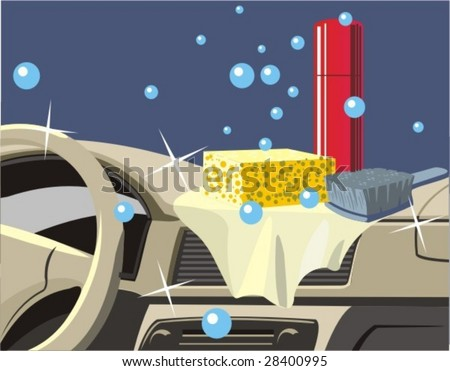 cleaning to car panel instrument and salon