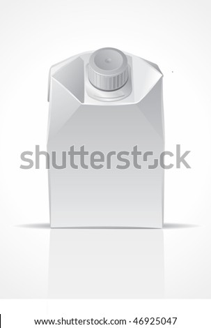 Clear carton package, for new design, vector - stock vector