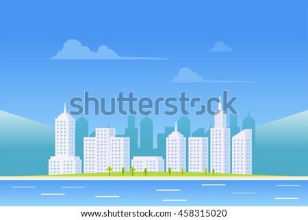 clear city landscape background.