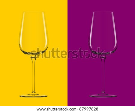 Clear glass on 2 backgrounds in vector