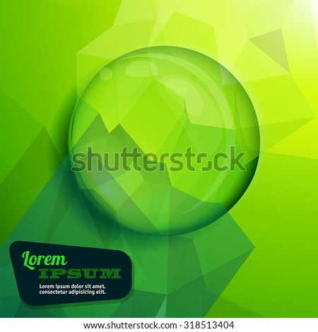 clear green water drop vector