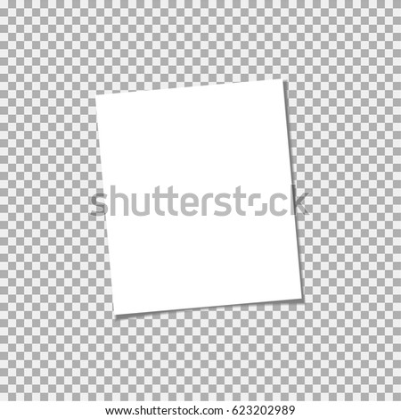 Clear list of paper on a grey background