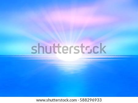 clear sea horizon over blue sky