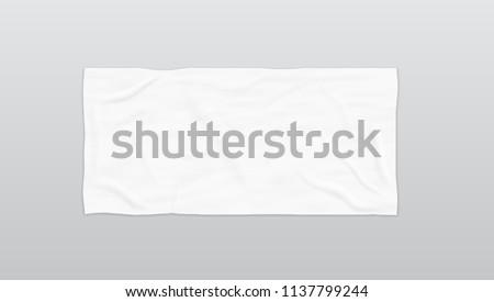 Clear White Soft Beach Towel For Branding. EPS10 Vector Foto stock ©