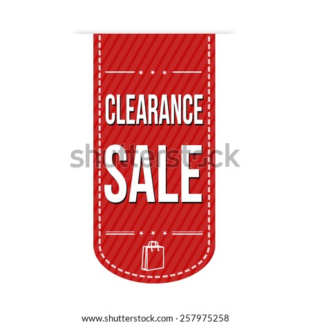 Clearance sale banner design over a white background, vector illustration