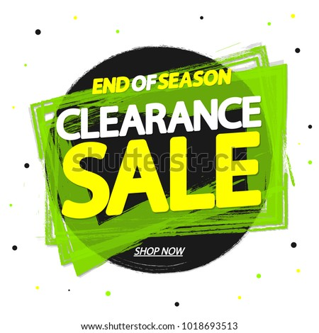 Clearance Sale, banner design template, end of season, app icon, vector illustration
