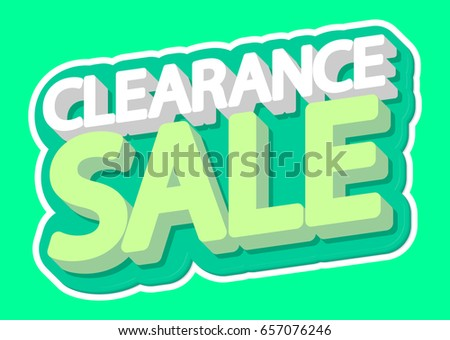 Clearance Sale, isolated sticker, poster design template, vector illustration
