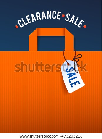 clearance sale poster with...