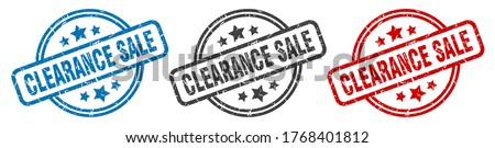clearance sale stamp. clearance sale round isolated sign. clearance sale label set