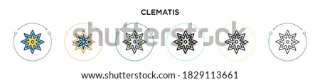 clematis icon in filled  thin