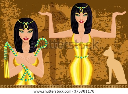 cleopatra  queen of egypt  on