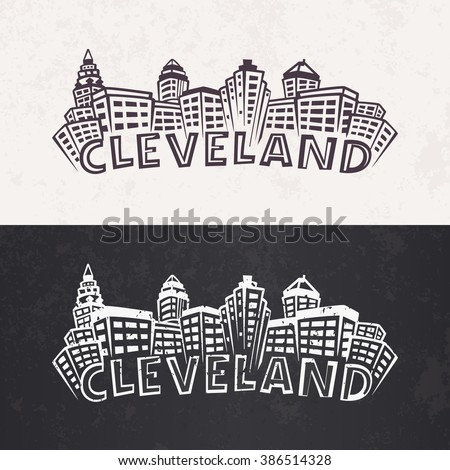 cleveland skyline silhouette....