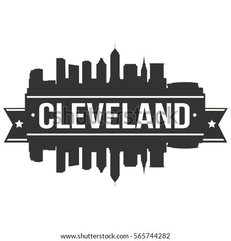 cleveland skyline stamp...
