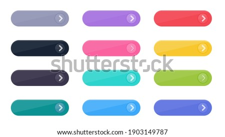 Click Button Vector Set Simple website links Isolated on white background.