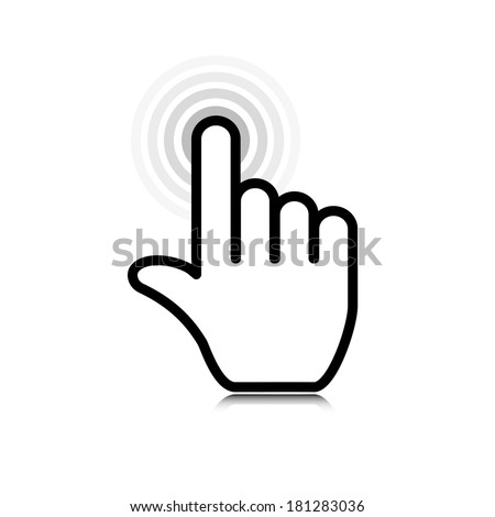 click. hand icon pointer. vector eps10