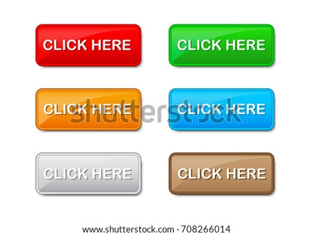 Click here buttons vector on white background #708266014