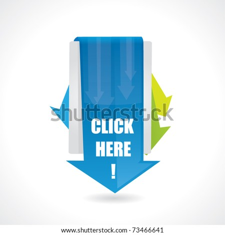 Click here design with arrows
