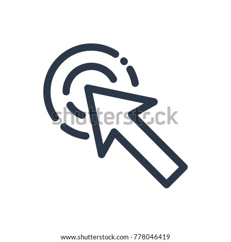 Click here icon. Isolated pointer and click here icon line style. Premium quality vector symbol drawing concept for your logo web mobile app UI design.