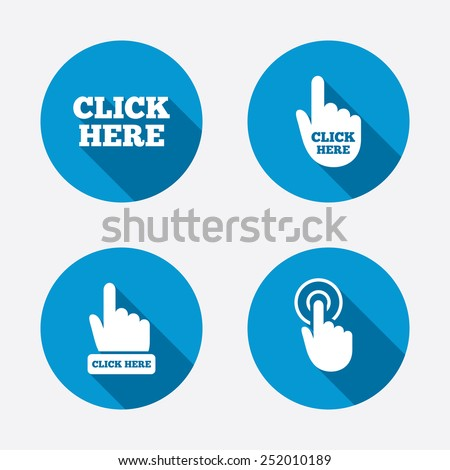 click here icons hand cursor