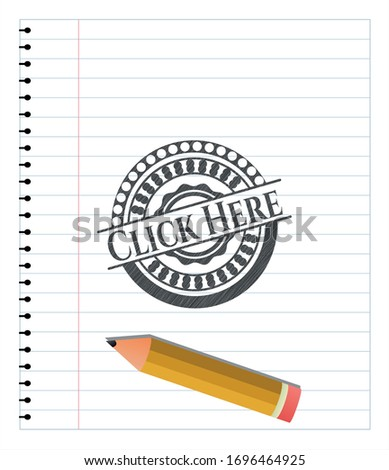 click here penciled vector