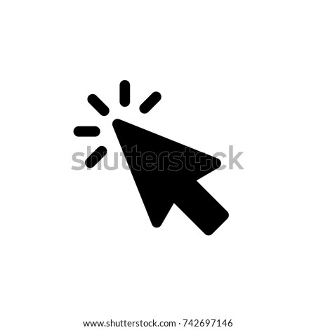 Click icon, Click icon vector, in trendy flat style isolated on white background. Click icon image, Click icon illustration