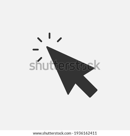 Click icon. Cursor sign. Clicking Arrow, Mouse Cursor Symbol.  Vector illustration. Eps 10.
