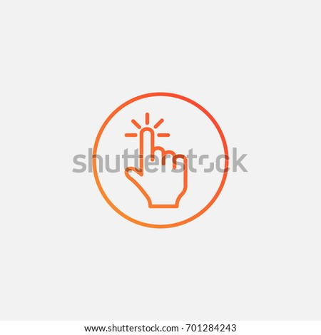 Click icon.gradient illustration isolated vector sign symbol