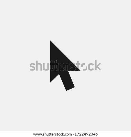 Click icon isolated on white background. Cursor symbol modern, simple, vector, icon for website design, mobile app, ui. Vector Illustration