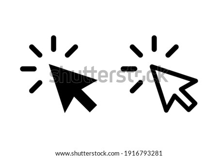 Click icon set. pointer arrow icon. cursor icon vector