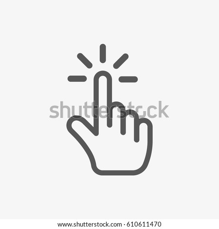 click icon stock vector illustration flat design