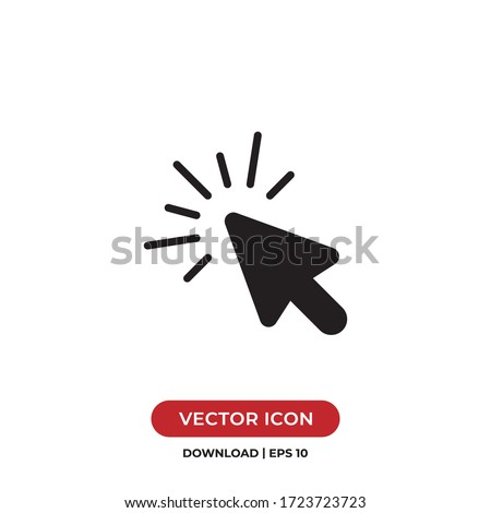 Click icon vector. Cursor sign