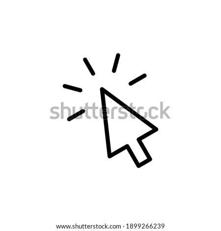 Click icon vector. pointer arrow icon. cursor icon vector