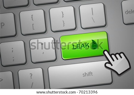 Click to leak information. The whole keyboard is available behind the clipping path.