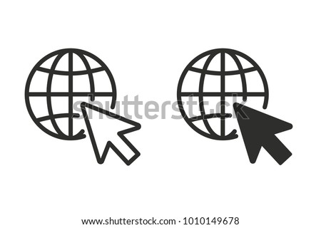 Click vector icon. Black illustration isolated on white background for graphic and web design.
