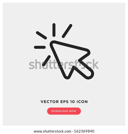 Click vector icon, cursor symbol. Modern, simple flat vector illustration for web site or mobile app