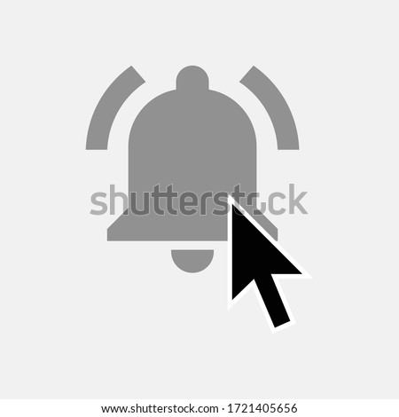 clicking bell icon isolated on