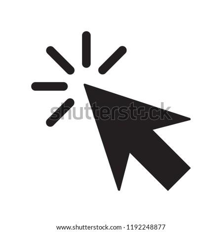 Clicking Cursor Pointer Icon Vector