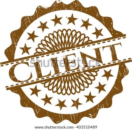 Client grunge stamp