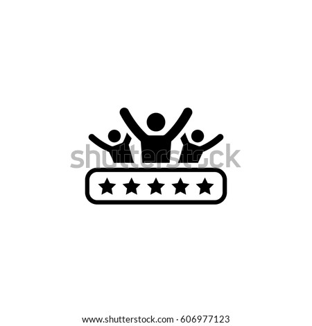 Client Satisfaction Icon. Business and Finance. Isolated Illustration