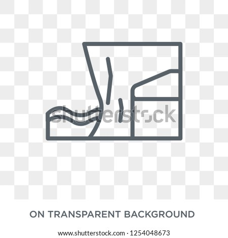cliff icon trendy flat vector