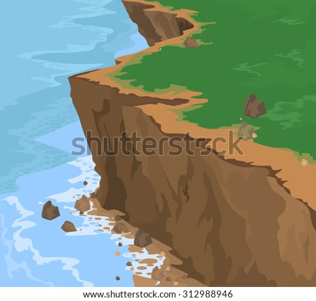 cliff seascape vector nature
