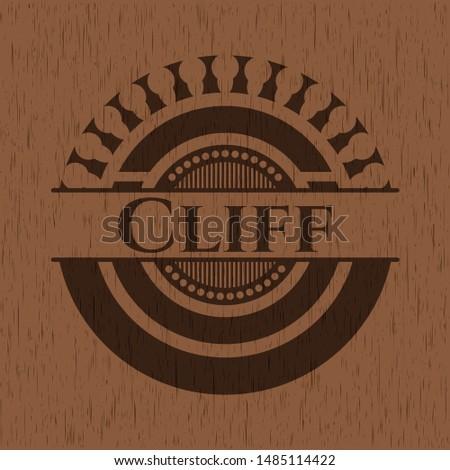 Cliff wooden signboards. Vector Illustration.