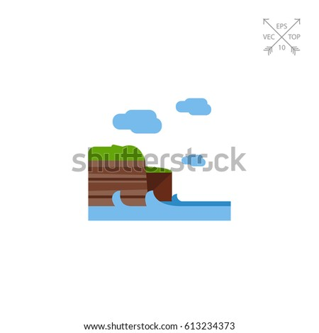 cliffs of moher vector icon