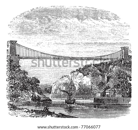 clifton suspension bridge  in...