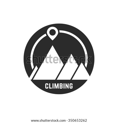 climbing logo with map pin